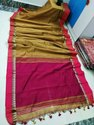 Handloom Khadi Cotton Small Temple Sarees