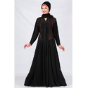 Black Lycra Abaya