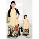 Chiffon Girls Casual Dress, Size: Small And Large
