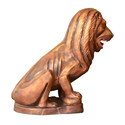 Brass Colour FRP Lion Statue