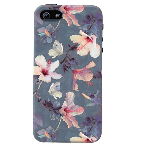 best service eeee3 34470 Butterflies And Hibiscus Flowers Case For Iphone Se
