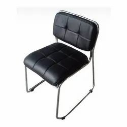 Gajjar Furniture Black Visitor Chair