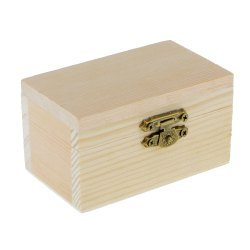 Hand Sanded and Raw Finish Wooden Pine Wood Jewelry Box