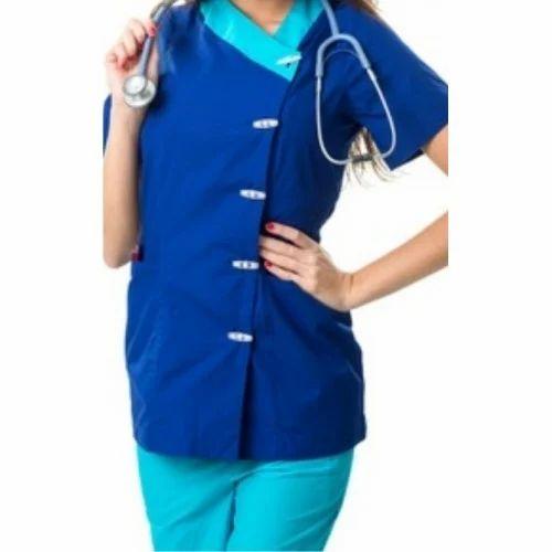 LORDS Navy Blue And Green House Keeping Nursing Staff Uniform 669e7b040b