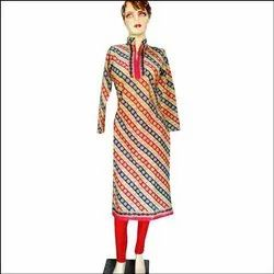 Ahad Design Studio Cotton Bandhani Kurti