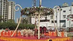 Stage Decoration Flower Design Roof Shed