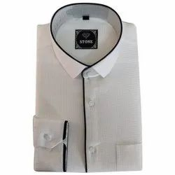 Cotton Mens Formal Collar Neck Shirt, Size: Large