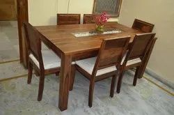 Kohinoor Furniture Brown & Black KF-DT-6 Dinning Table for Home