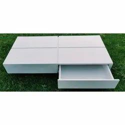 Wooden Rectangular White Table