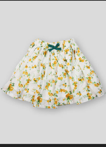 f2c757311a Pikaboo White Base Yellow Flower Printed Skirt, Rs 449 /piece | ID ...