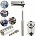 Gator Grip Self-Adjusting Socket Wrench with Adapter & Handle  -  Gator Grip