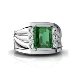 Men Emerald Ring