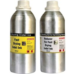 Gold Class 1000 ml Fast Drying Indel Ink and Reducer Set