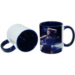 11oz Inner Rim Blue Color Mug