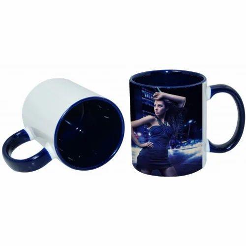 3 Tone Dark Blue Color Mug