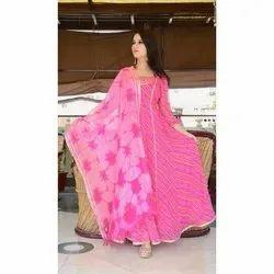 Ladies Pink Anarkali Suit