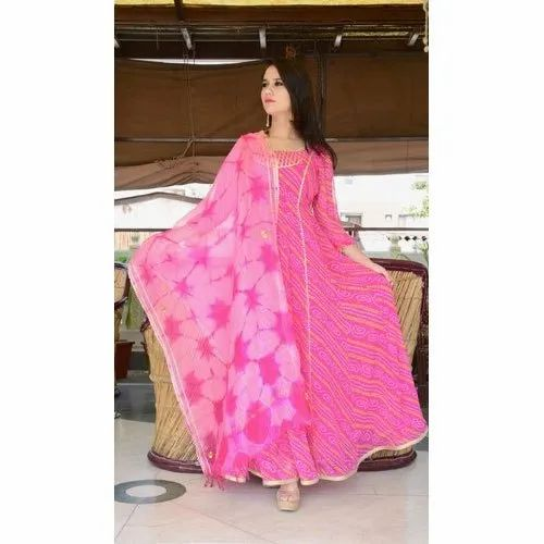 Ladies Pink Anarkali Suit