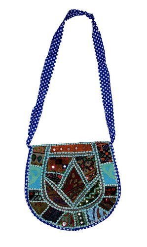 Round Shape Patchwork Collage Bag