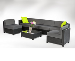 Rattan Waiting Sofa Set