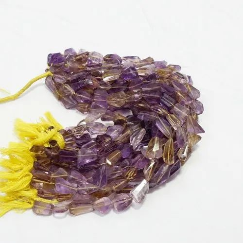 Ametrine Tumble Nuggets Faceted Beads