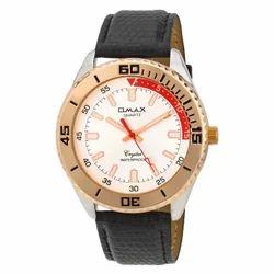 Golden Case Round White Men's watch