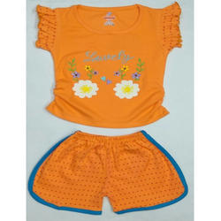 Cotton Baby Girl Top and Shorts, Age Group: 1-4