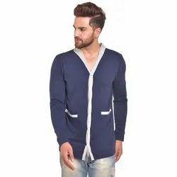 Full Sleeves Cotton Navy Solid TShirt