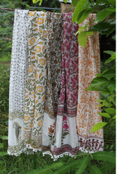 Block Printed Cotton Scarves