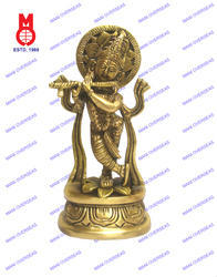 Lord Krishna Standing On Lotus Statues