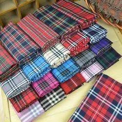 Check Raymond Cotton Polyester Shirting Fabric, Packaging Type: Lump