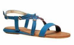 Bata Blue Flat Sandals For Women F561920300
