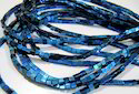 Natural Royal Blue Hematite Box Beads