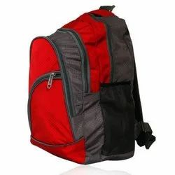 Red and Grey Designer Polyester College Bag, Size: 29L