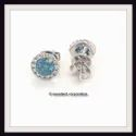 CVD Blue Diamonds Earrings 1ct VS 14k White Gold Lab Grown Fancy Color