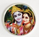 Radha Krishna Color Silver Coin 10 gm