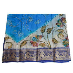 Party Wear Mahabharata Border Silk Saree