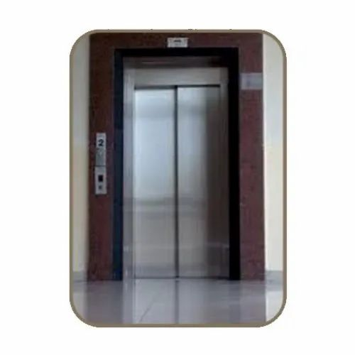 Stainless Steel Double Door Automatic Residential Elevator, Max Persons/Capacity: 6 Persons