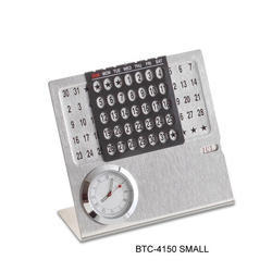 Metal Table Calender With Clock And Month