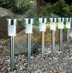 Solar Garden Light SLR01 Steel Pole Cool White 10pcs Box