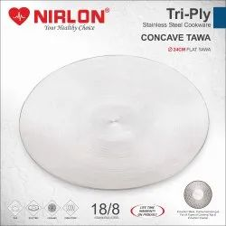 Nirlon Tri Ply Stainless Steel Tawa 26cm Cookware - Induction Friendly