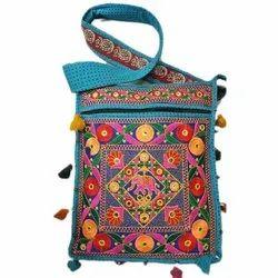 Ethnic Arts Cotton Embroidered Shoulder Bag