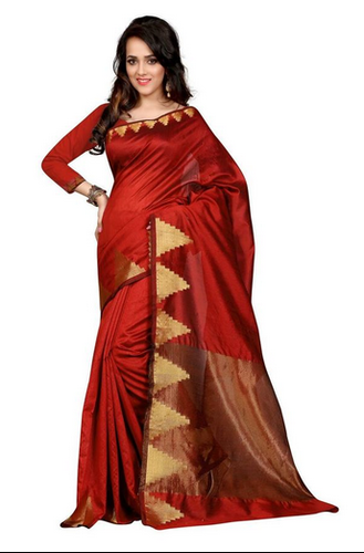 2635f3fb26b Red Buy Online Designer Jacquard Art Silk Sarees