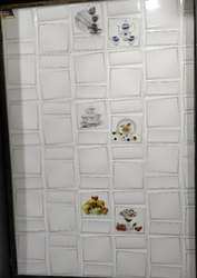 White Ceramic Digital Kitchen Wall Tiles