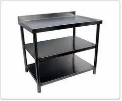 Mild Steel 3 Tier Table with Wheel