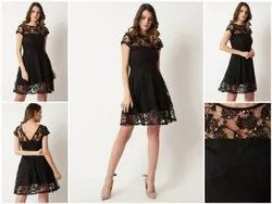 Chic Net Little Black Dress