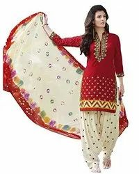 Multicolor Designer Dress Material