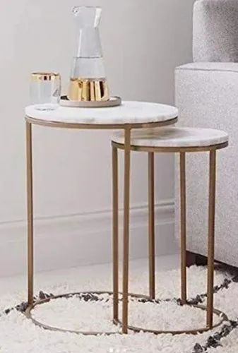 Marble nesting table