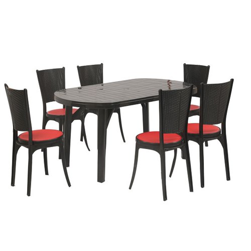 Plastic Corsa Supreme Dining Table Chair Set Rs 14350 Set Ghanshyam Enterprise Id 21609706188