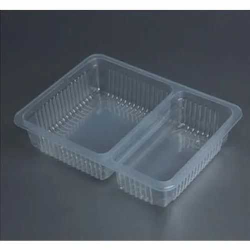 2 Compartments Combo Meal Tray