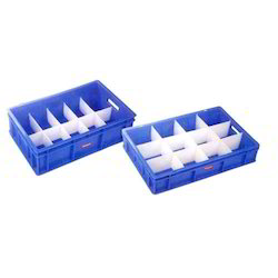 Blue Foam Partition Plastic Crates